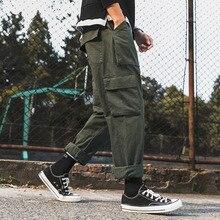 Весенне-осенние брюки-карго в стиле хип-хоп; повседневные брюки в стиле милитари с множеством карманов; мужские уличные брюки в Корейском стиле; мужские брюки-карго
