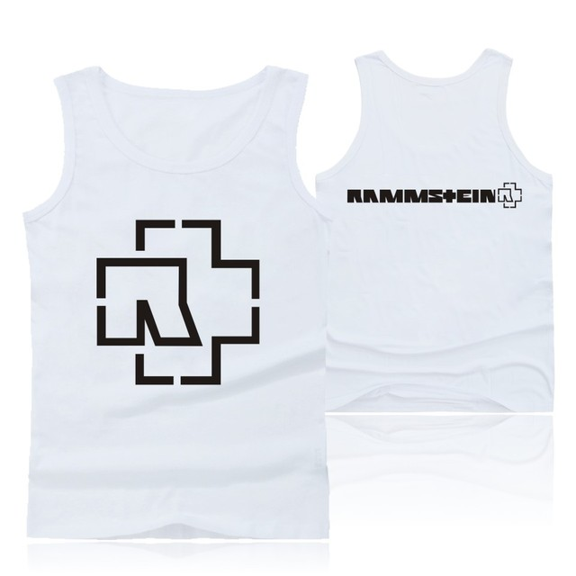 f88bfedb895a17 Rock Music Rammstein Tank Top Cool Men Sleeveless Tops And Sleeveless  Clothing Shirt Plus Size Rammstein