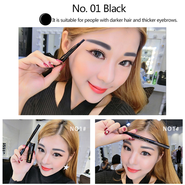 LAMILEE Brand Eye Brow Tint Cosmetics Natural Long Lasting Paint Tattoo Eyebrow Waterproof Black Brown Eyebrow Pencil Makeup Set 3