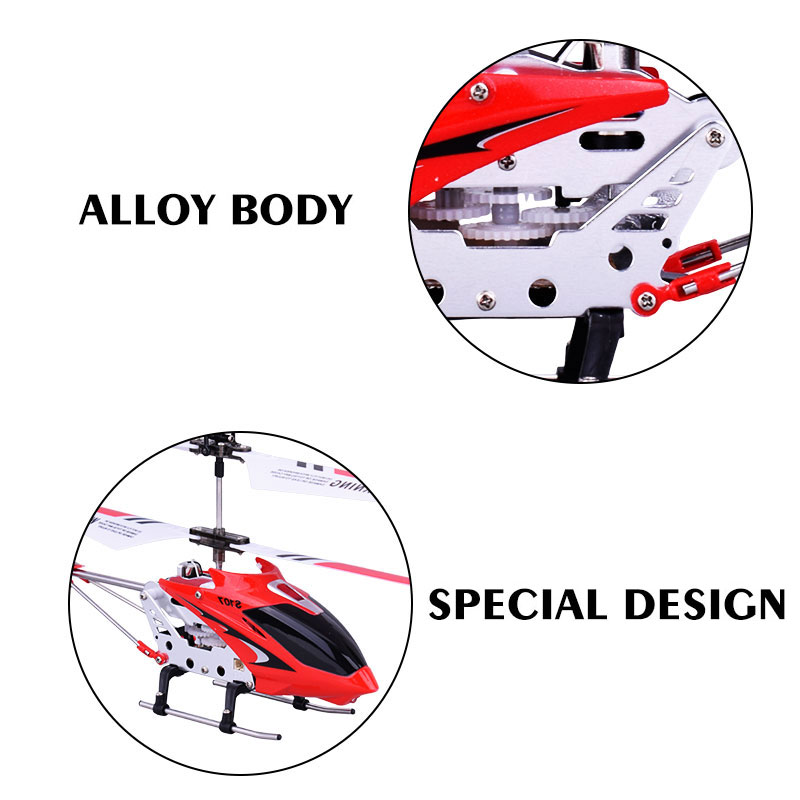 Original Syma S107G 3CH mini RC Helicopter Alloy Fuselage Drone with Gyroscope Lights Red