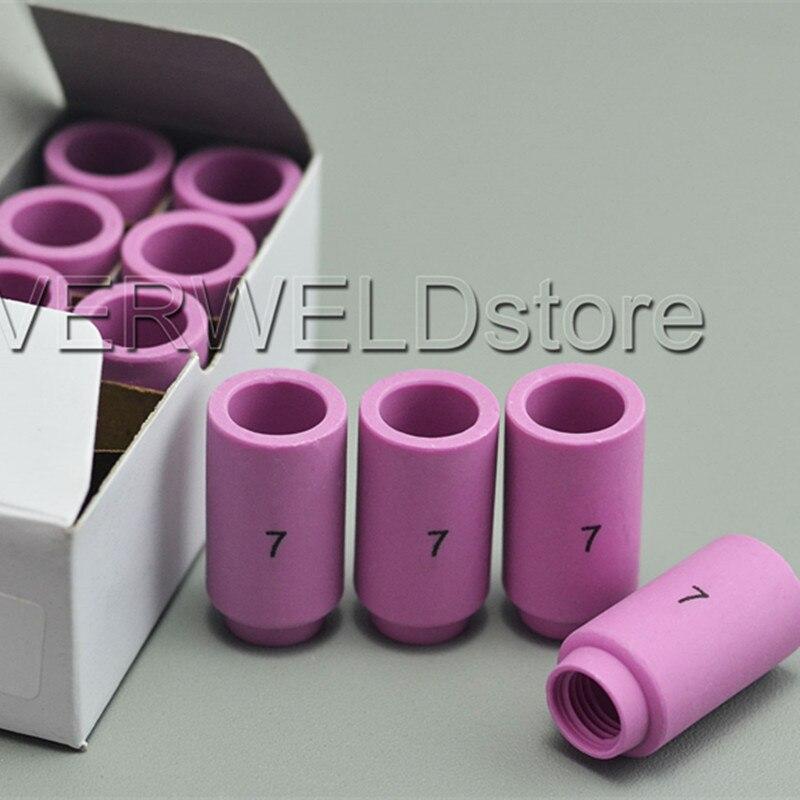10PCS TIG Alumina Ceramic Shield Cup 13N11 7# Fit TIG Welding Torch Consumables SR PTA DB WP 9 20 25 Series Gas Lens Nozzle Cup
