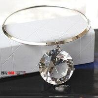 Luxury Big Grass Crystal Diamond Gemstone Choker Statement Necklaces Pendants 2014 New Fashion Jewelry For Women
