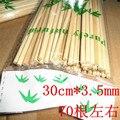 30 cm * 3.5mm vara de bambu, cerca de 70 raiz, natural, aguilhões corda carneiro, ferramentas de churrasco, churrasco agulhas