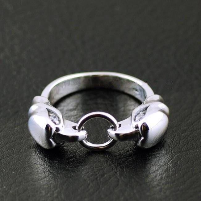 925 Sterling Silver Zircon Double Eagle Head imported Silver Ring925 Sterling Silver Zircon Double Eagle Head imported Silver Ring