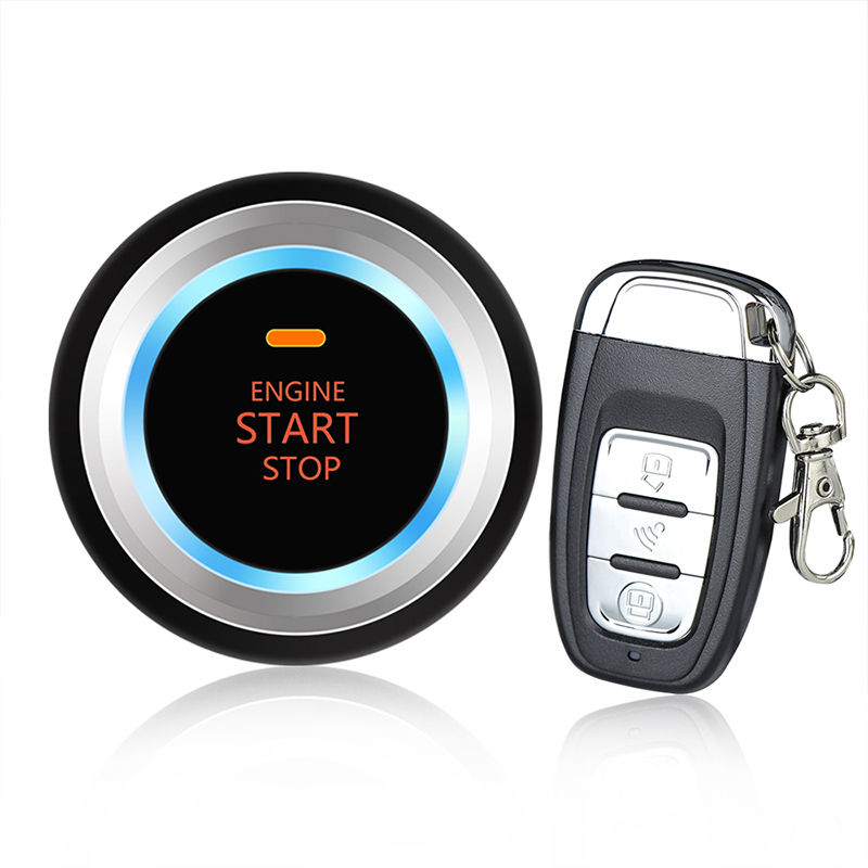 Car Alarm System Security Keyless Entry Ignition Engine Start Push Button Remote easyguard pke car alarm system remote engine start stop shock sensor push button start stop window rise up automatically