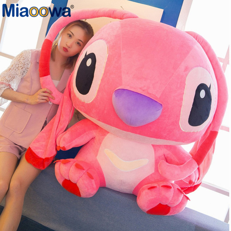 1pc 80cm Super Giant Cute Anime Lilo And Stitch Plush Toy Baby Soft Pillow Kids Stuffed Doll Baby Toy For Children Gift - 2