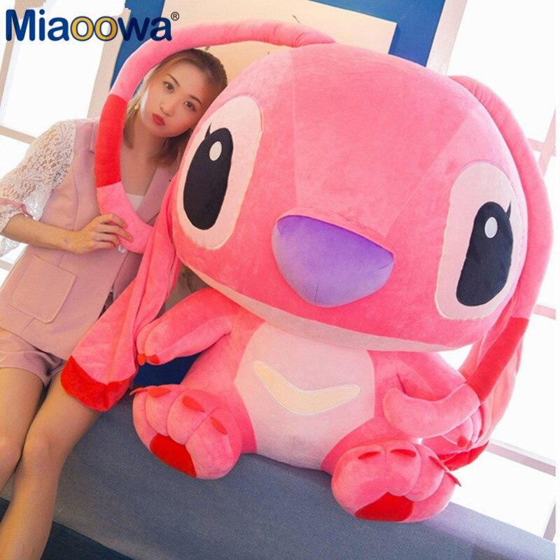 1pc 80cm Super géant mignon Anime Lilo et point peluche jouet bébé doux oreiller enfants peluche poupée bébé jouet pour enfants cadeau - 2
