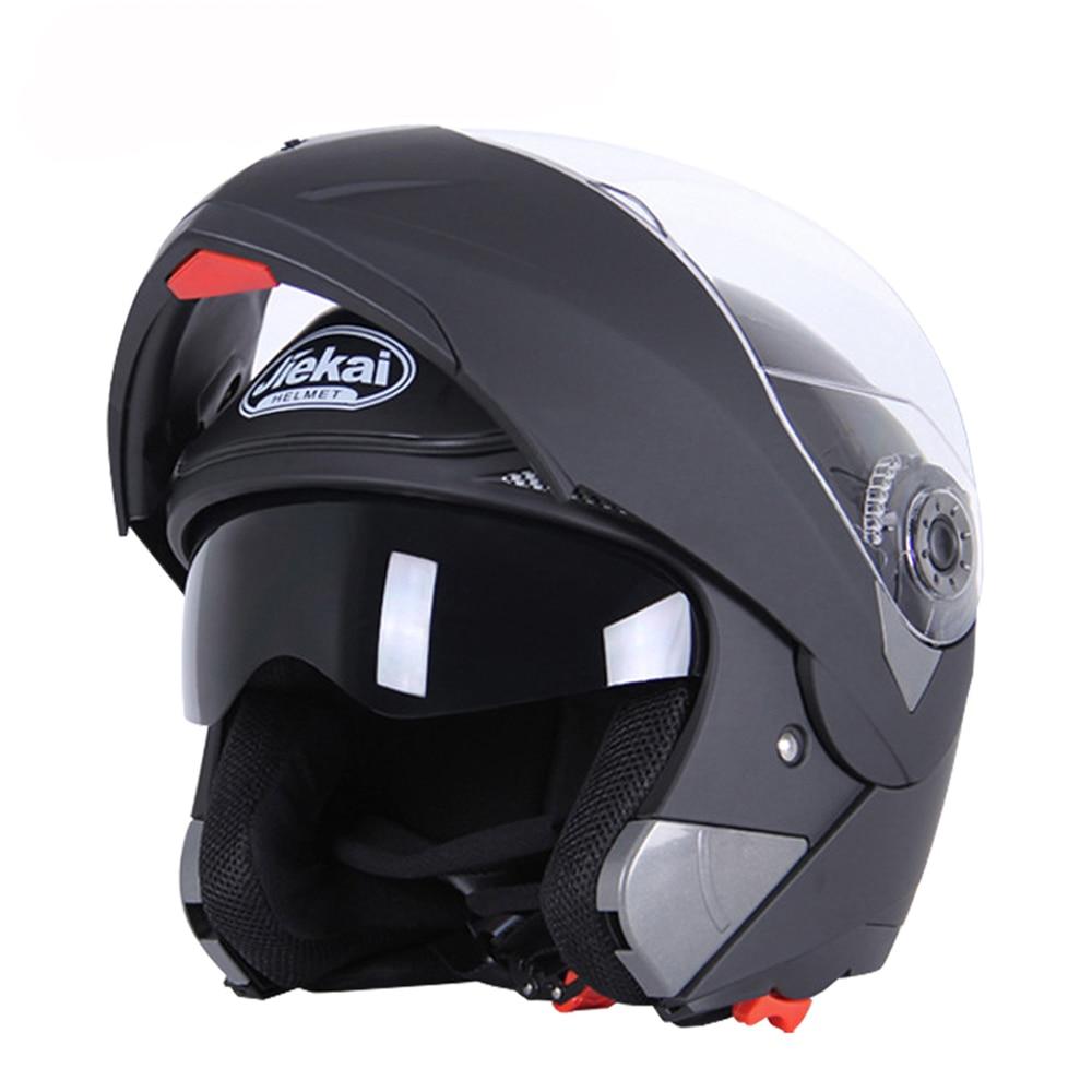 JIEKAI Black Motorcycle Helme Motocross Helmet Full Face Helmet Men Flip Up Visor Racing Modular Motorbike Riding Moto Casco