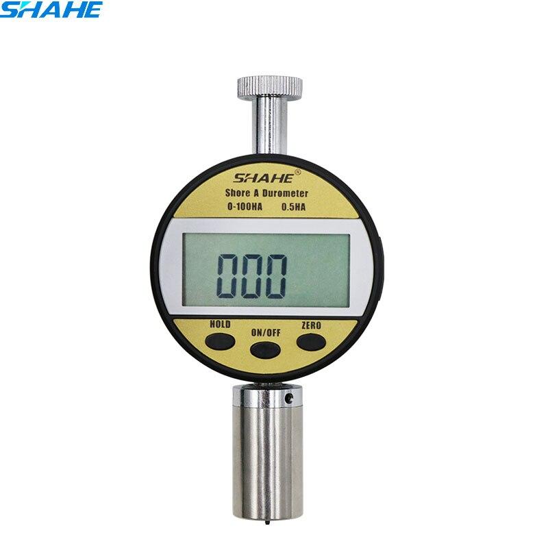 0 100HA SHORE High Quality Digital Durometer Hardnes tester Meter fibred durometro test gauge LXD A