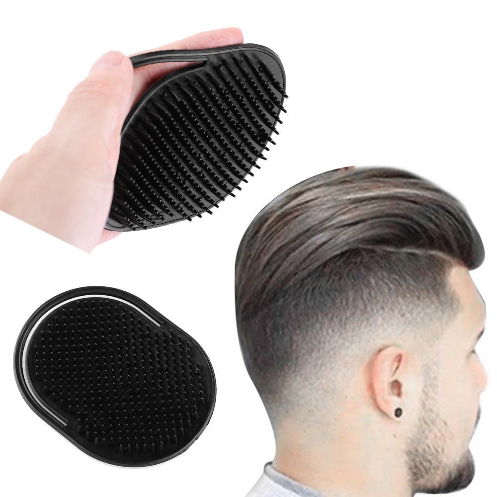 1 PCS Shampoo Comb Pocket Men Beard Mustache Palm Scalp Massage Black Hair Care Travel Portable Hair Comb Brush Styling Tools