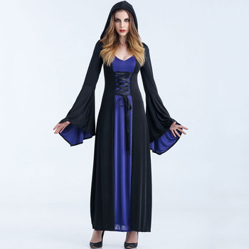 Medieval Maxi Gown Gothic Vintage Women Retro Elegant Goth Dress 3 Colors