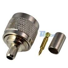 Высокое качество N Тип штекер прямой обжимной для RG59 RG6 LMR240 кабель RF разъем адаптера