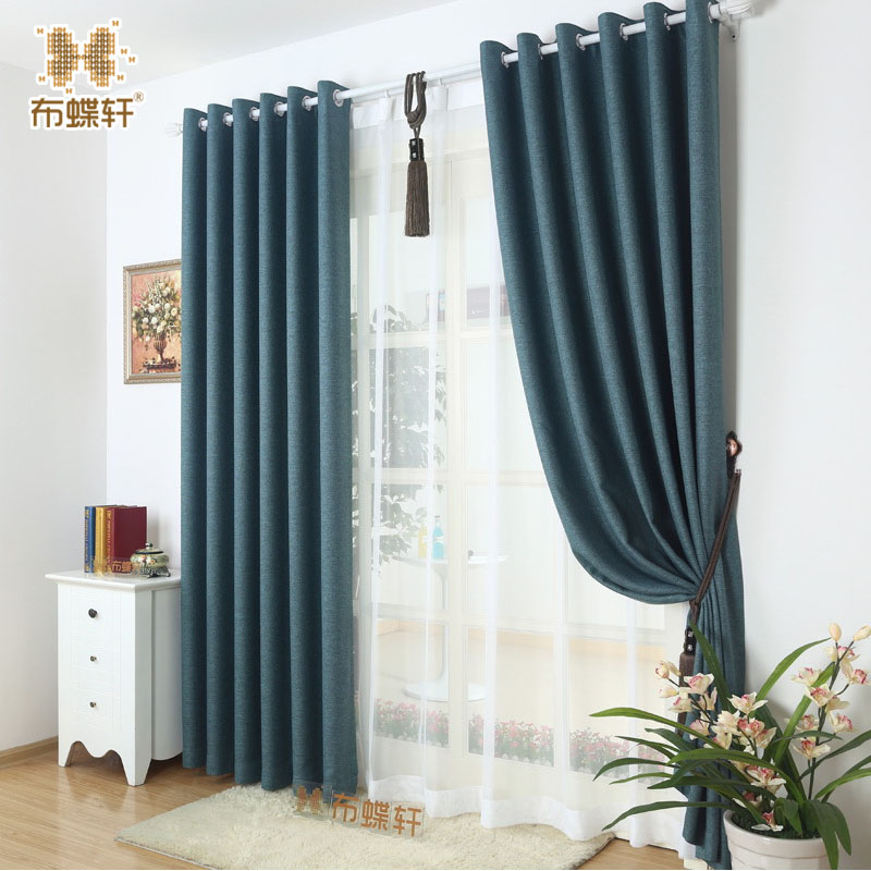 Top Imitation Linen Fabric High Shading Rate of 95% Blackout Curtains for Bedroom Colorful Six-Color Option Ready Made CurtainTop Imitation Linen Fabric High Shading Rate of 95% Blackout Curtains for Bedroom Colorful Six-Color Option Ready Made Curtain