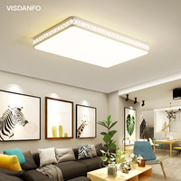 Acryle Round Circular Celling light AC220V Switchable Warm White/White/Cold White Lampara For Living Room Bedroom
