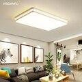 Visdanfo современная акриловая круглая Светодиодная потолочная лампа AC220V переключаемые лампы для гостиной светильники для спальни домашнего ...