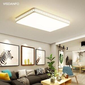 Image 1 - Visdanfo modern Acryle yuvarlak LED tavan lambası AC220V değiştirilebilir lambaları oturma odası için ışıkları fikstür yatak odası ev aydınlatma
