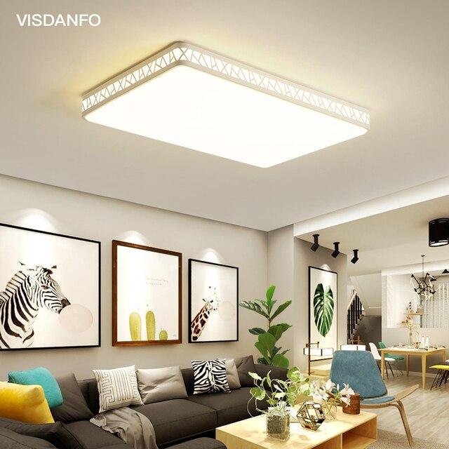 Visdanfo modern Acryle yuvarlak LED tavan lambası AC220V değiştirilebilir lambaları oturma odası için ışıkları fikstür yatak odası ev aydınlatma