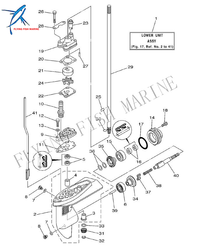 68D-G5511-00 Short Drive Shaft for Outboard Engine Yamaha 4-Stroke F4 Boat Motor