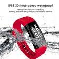 Nuevo pulsera inteligente IP68 impermeable soporte de Monitor de presión arterial podómetro deportes pulsera de Fitness para IOS Android