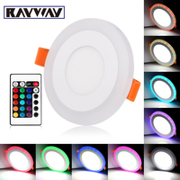 Remote Control 3 Models White RGB Led Panel Light 6w 9w 16w 24W Ultra Thin Recessed