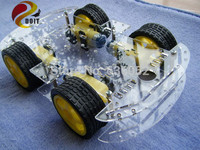 Smart Car Tracking Chassis 4 Driver Power Chronological Belt Encoder Speed ZK 4WD Cduino UNO R3