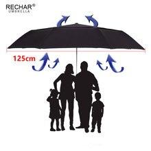 Ombrello a doppio strato da 125cm di marca revar per uomo 3 volte antivento ombrello da pioggia automatico da donna di alta qualità