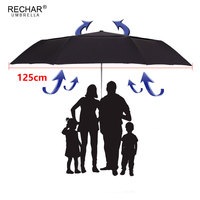 CHN TOP Large 125cm Double Layer Umbrella For Men 3Folding Windproof High Quality Automatic Rain Women