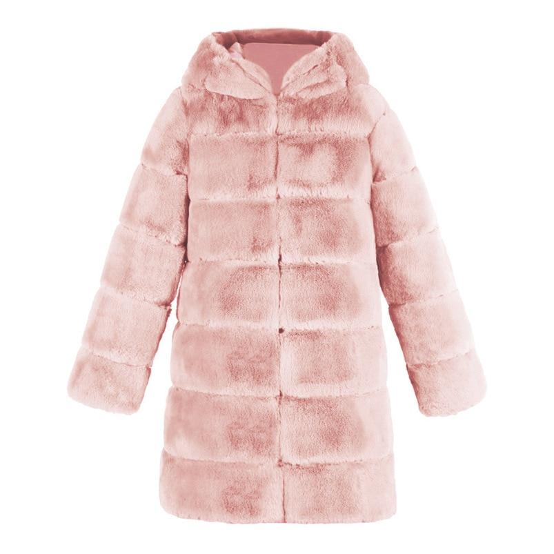 Zipper Winter Coat Women 2018 Sleeveless Fur Cashmere Hoodie Coat Girl Warm Pullover Thick Coat femenino #N28 (5)