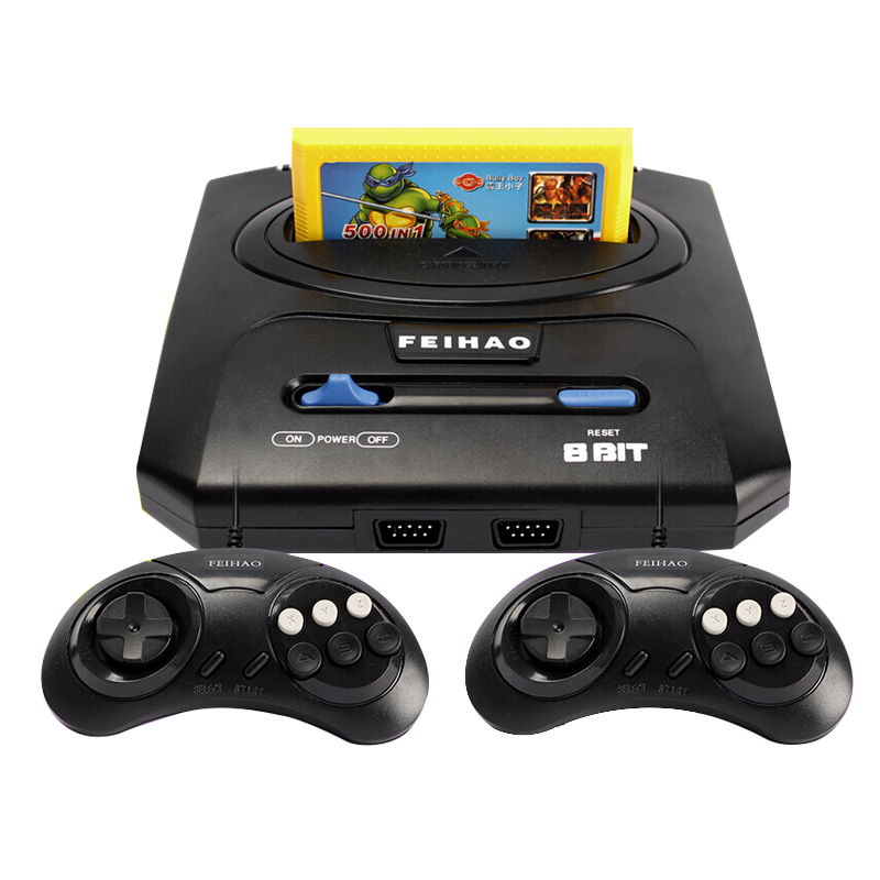 Classic ostalgic TV Video Game Console 8 bit & 400 in 1 Retro games Double Gamepads PAL NTSC system