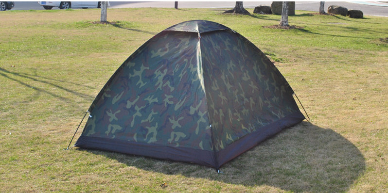 VILEAD 200x150cm Outdoor Camping Camouflage Tent for Camping Outdoor Recreation Double Couple Camping Tent Ultraviolet proof in Tents from Sports Entertainment