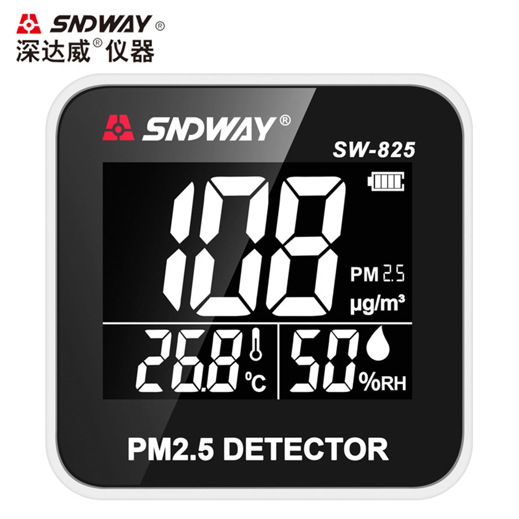 SNDWAY Air Quality Monitor Mini PM2.5 Detector Monitor Gas Analyzer Temperature Humidity Tester Diagnostic tool digital indoor air quality carbon dioxide meter temperature rh humidity twa stel display 99 points made in taiwan co2 monitor