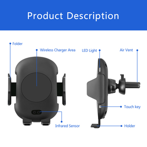 Image 5 - 696 C10 QI Fast charging Wireless Car Charger 10W Automatic Infrared Induction Air Vent Car Phone Holder for iPhone for Samsung
