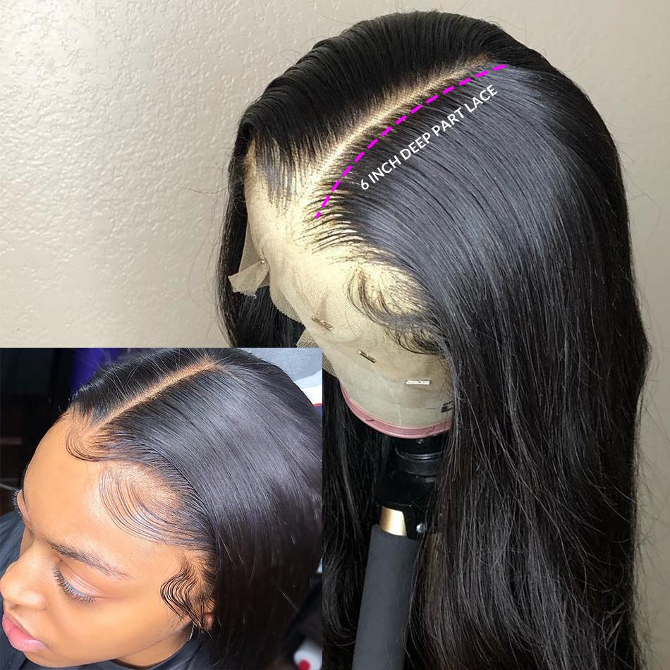 Luvin 13x6 Straight 30 32 Inch Long Glueless Lace Front Human Hair Wigs Pre Plucked Brazilian Short Frontal Wig For Black Women