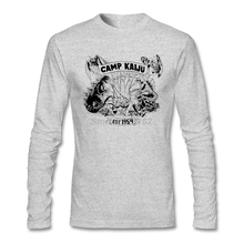 Perfect Mens Camp Kaiju T Shirts Geek Art T Pacific Rim tee shirt Size L Long sleeved array For Brother
