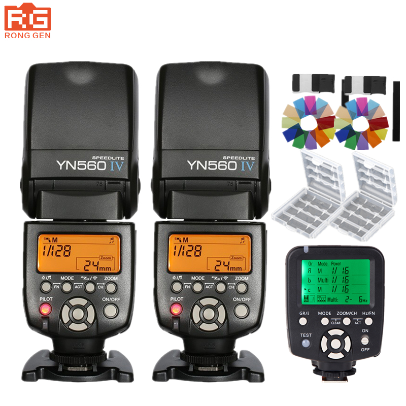 Yongnuo YN560 IV YN560IV Wireless Control Flash Speedlite for Canon Nikon Digital SLR Camera With Yongnuo 560tx flash trigger selens seven color speedlite filter honeycomb grid with magnetic rubber band for yongnuo canon nikon flash accessories kit