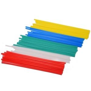 Mayitr 50pcs 25cm Plastic Welding Rods 5 Color Welder Sticks Blue/White/Yellow/Red/Green Welding Tools