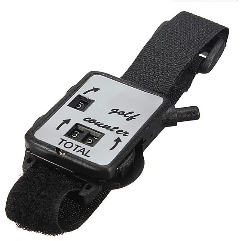 Black Silver Color Watch-Style Score Resetable Golf Score Counter ...