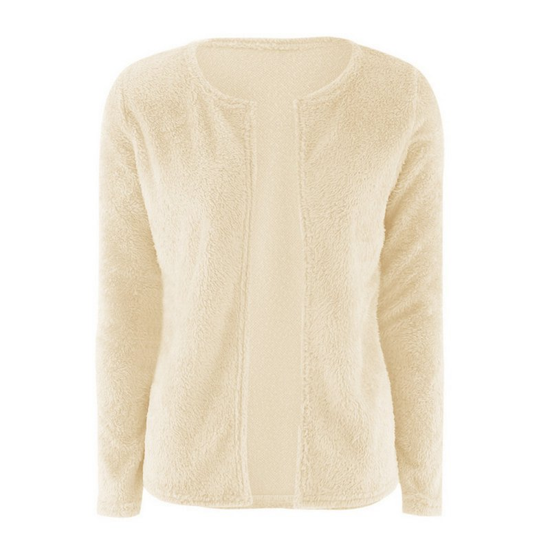 Autumn Winter Warm Fluff Sweaters Women Long Sleeve Silm Knitted Cardigan Poncho Female Tricot Loose Outwear Girl
