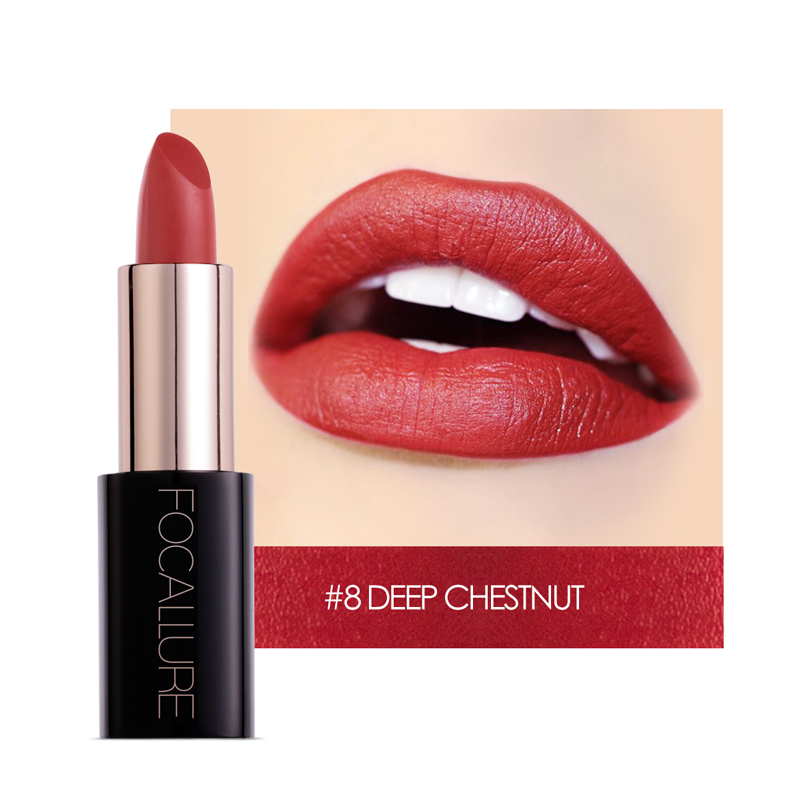 $1OFF PER$3 Focallure Matte Lipstick pencil moisturizer Waterproof Long-lasting Moisturizer women fashional lips makeup Cosmetic