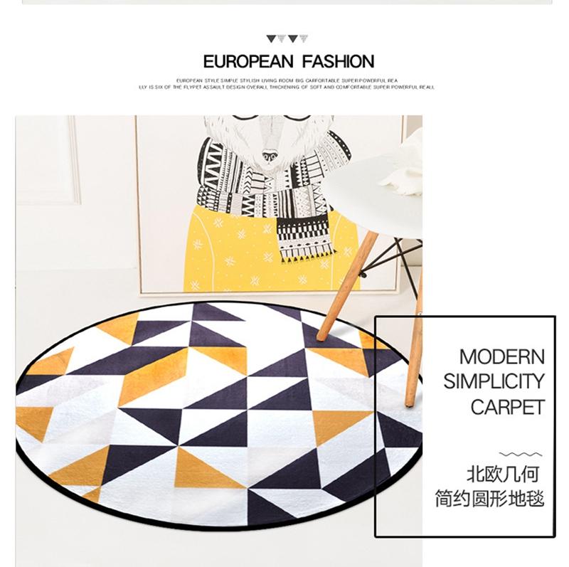 European Geometric Round Carpet For Living Room kids & Bedroom