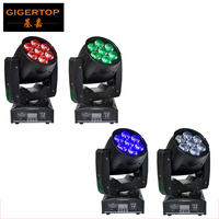 Freeshipping 4XLOT 95W Led Zoom Focus Moving Head Light 7 12W RGBW 4IN1 15 60 Degree
