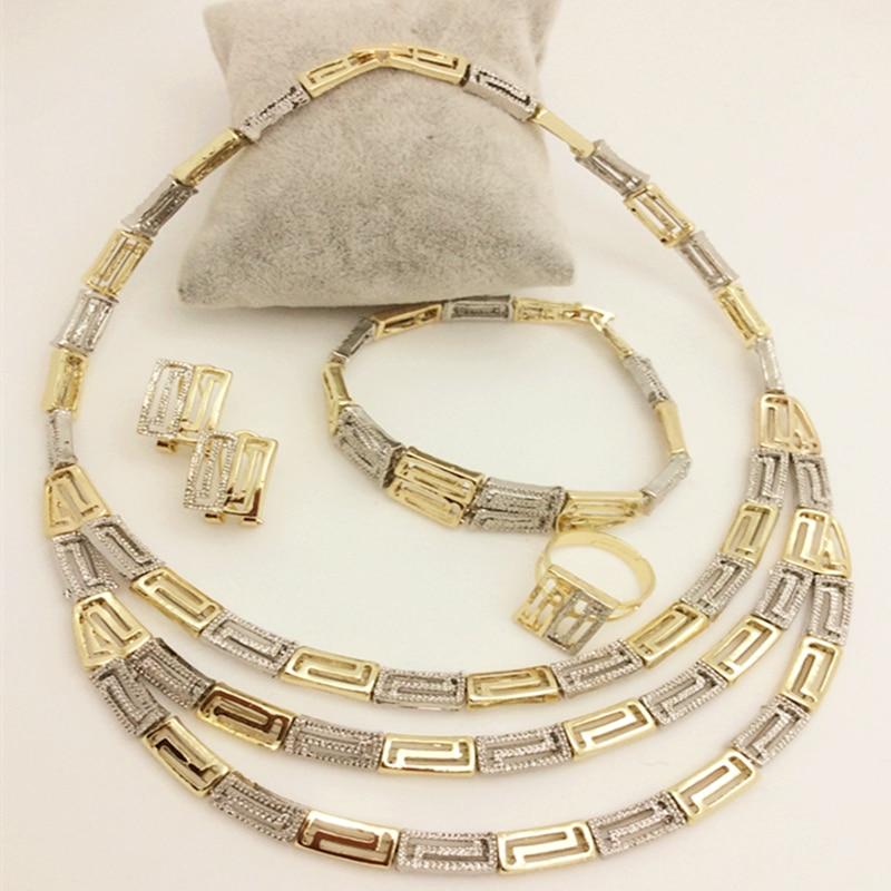 Hochzeits- & Verlobungs-schmuck Neue Luxus Mode Zubehör Hochzeit Afrikanische Perlen Schmuck Set Erklärung Gold-farbe Ohrring Armband Halskette Ring Lange Lebensdauer