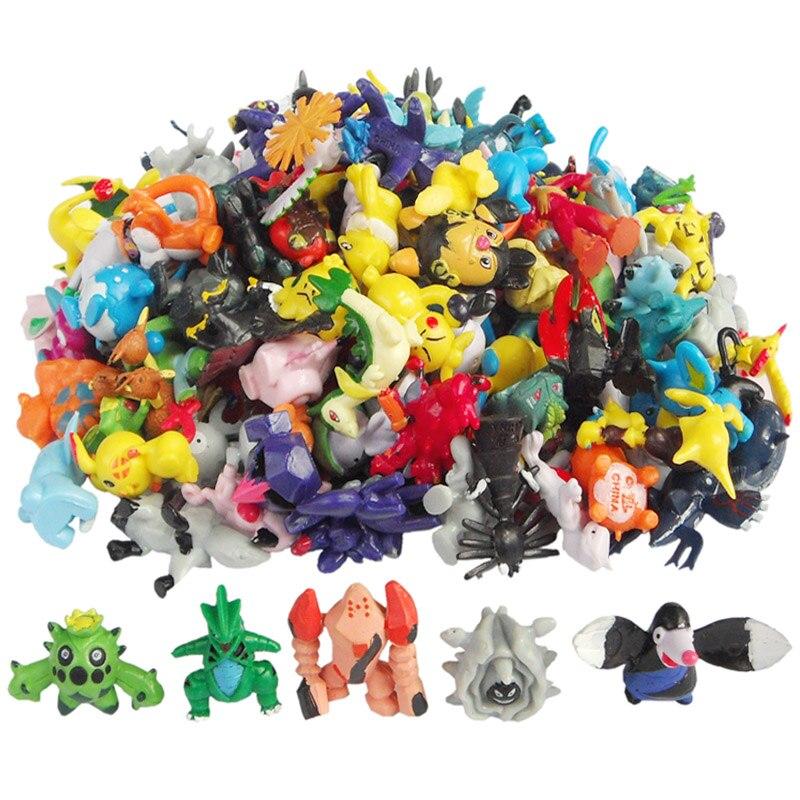 Figurines & Miniatures: 144PCS/Lot 2-3CM Pokemon Go Toys Mix Style New Cute Cartoon Monster Mini Figures Toys Brinquedos Action Figure Pikachu Toys
