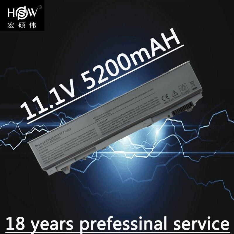 A HSW 5200mAh Da Bateria Do Portátil Para dell Latitude E6400 M2400 E6410 E6510 E6500 M4400 M4500 PT436 PT437 KY477 KY265 KY266 KY268 akku