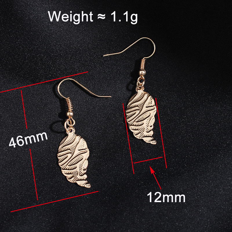 1pair Korean Style Fashion Charm Gold Color Leaf Bead Statement серьги женские Dangle Earring for Women Girls in Drop Earrings from Jewelry Accessories
