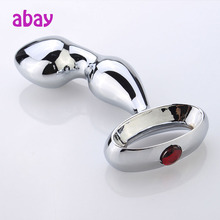 Metal Stainless Steel Anal Sex Toy For Male,Beads Anal Massager Erotic Products,Men Anal Plug Massage Prostate Stimulation Toys