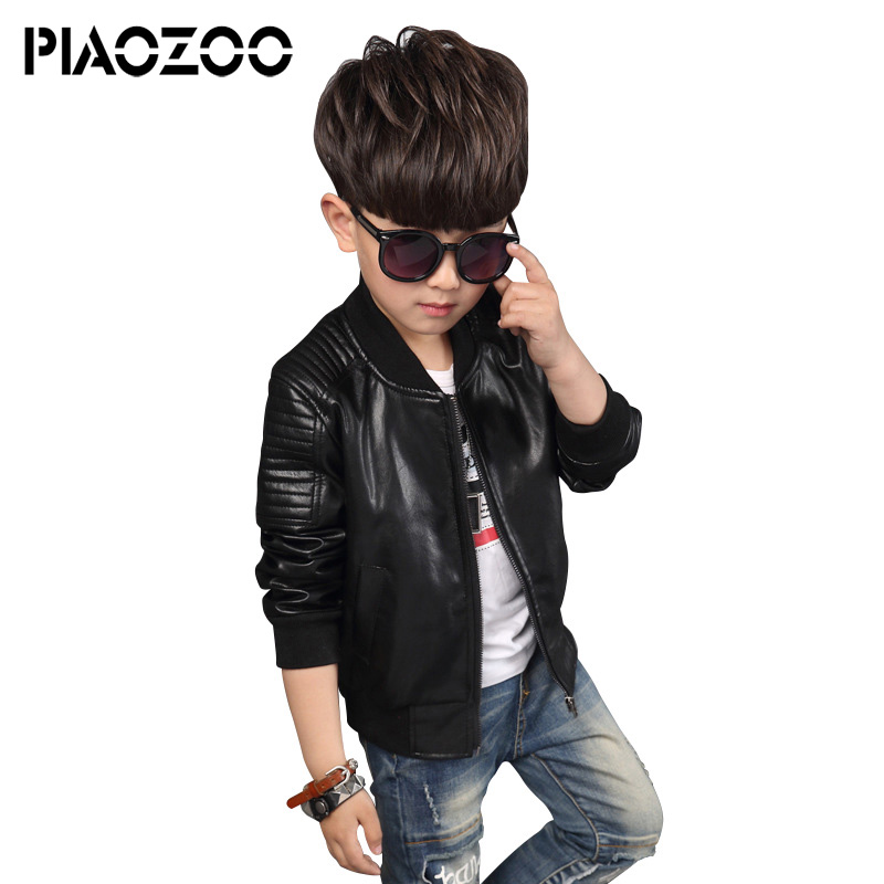 Boy cool motorcycle leather jacket teenage boys clothing winter pu jacket big boys clothes streetwear coat Children Outwears P20 columbia big boys lightning lift jacket