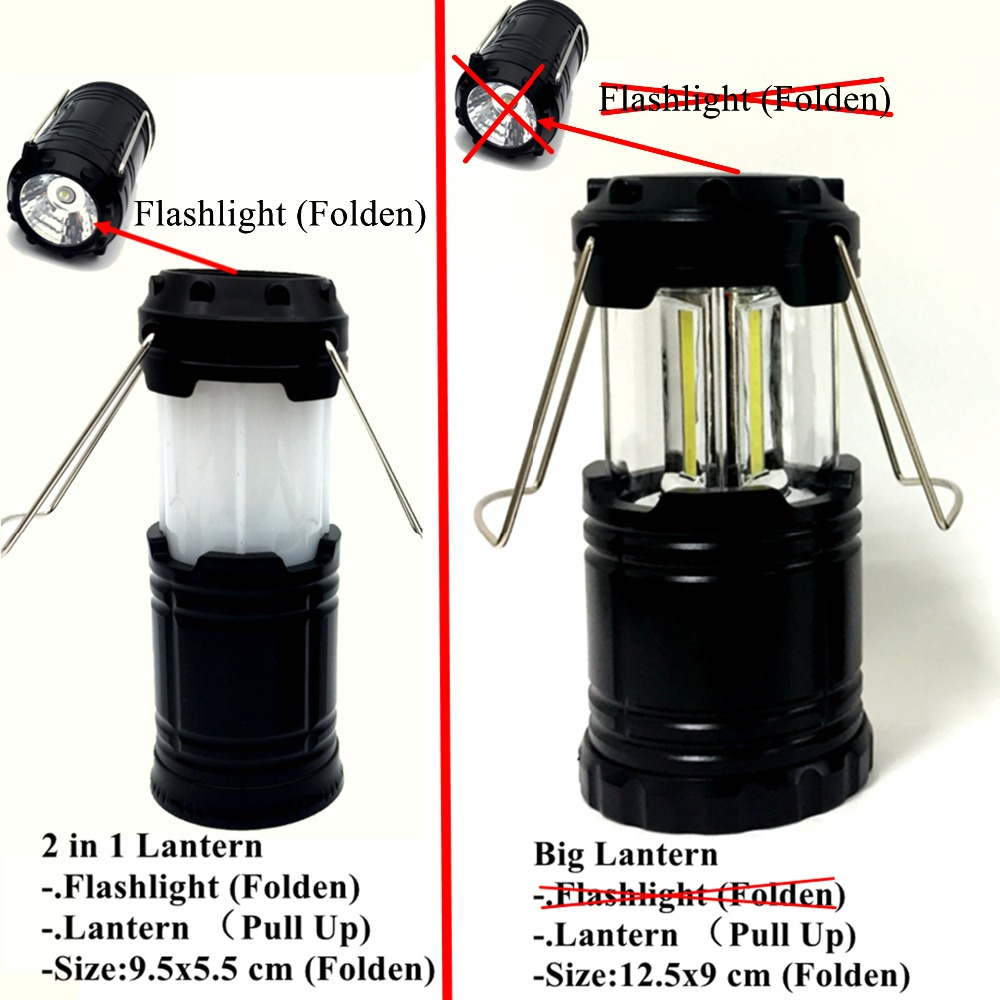 Купить с кэшбэком MINGRAY Portable LED Camping Lantern AA Battery waterproof tent LED Light super bright Collapsible hand Light