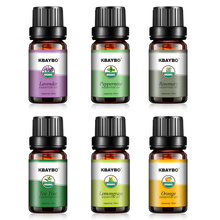 6 Kinds Essential Oils Fragrance of Lavender Tea Tree Rosemary Lemongrass Orange  Aromatherapy Oil for aroma Diffuser Humidifier