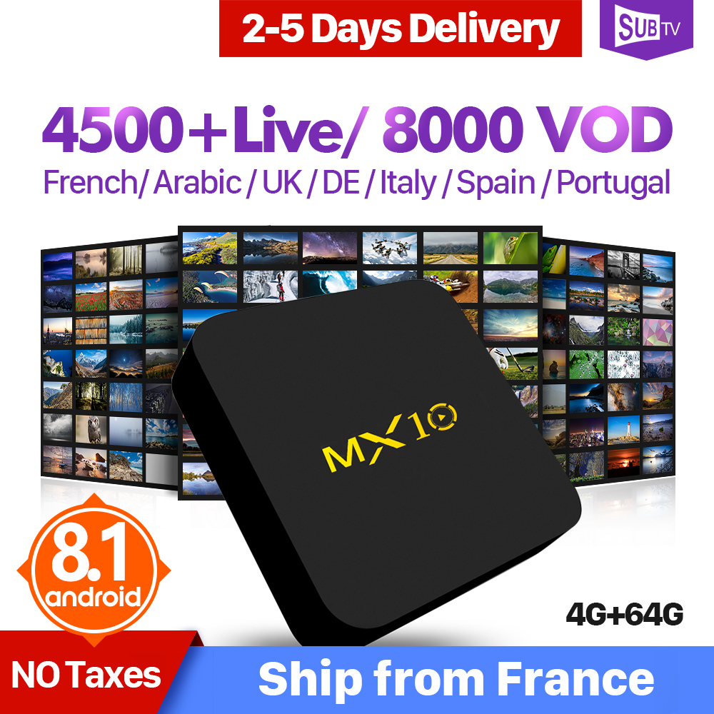 France IPTV Italy Arabic IPTV Subscription 1 Year QHDTV IUDTV SUBTV MX10 4+64G Android 8.1 IP TV Netherlands Sweden French Box  France IPTV Italy Arabic IPTV Subscription 1 Year QHDTV IUDTV SUBTV MX10 4+64G Android 8.1 IP TV Netherlands Sweden French Box